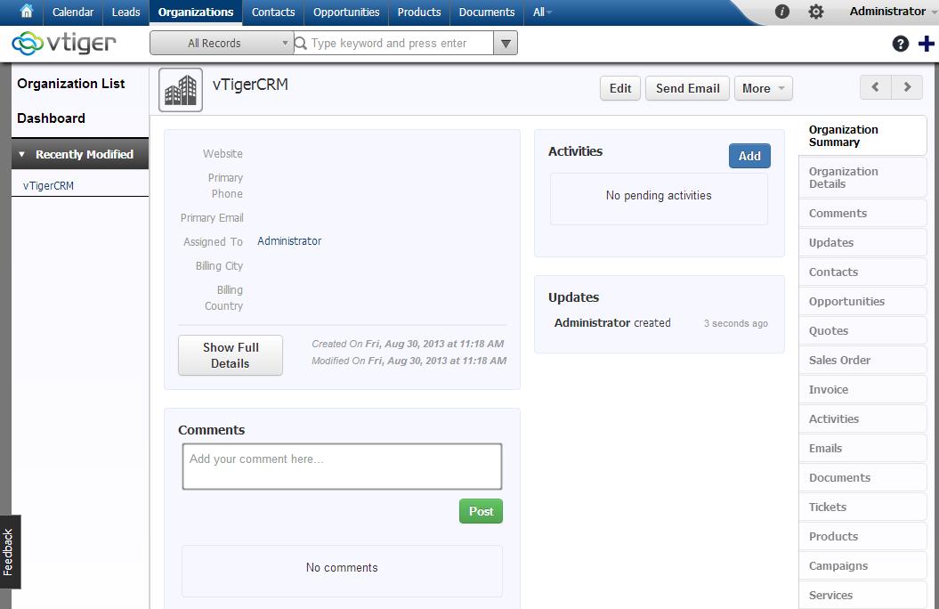 vTiger Open Source 6 0 Beta Released - VTiger Experts