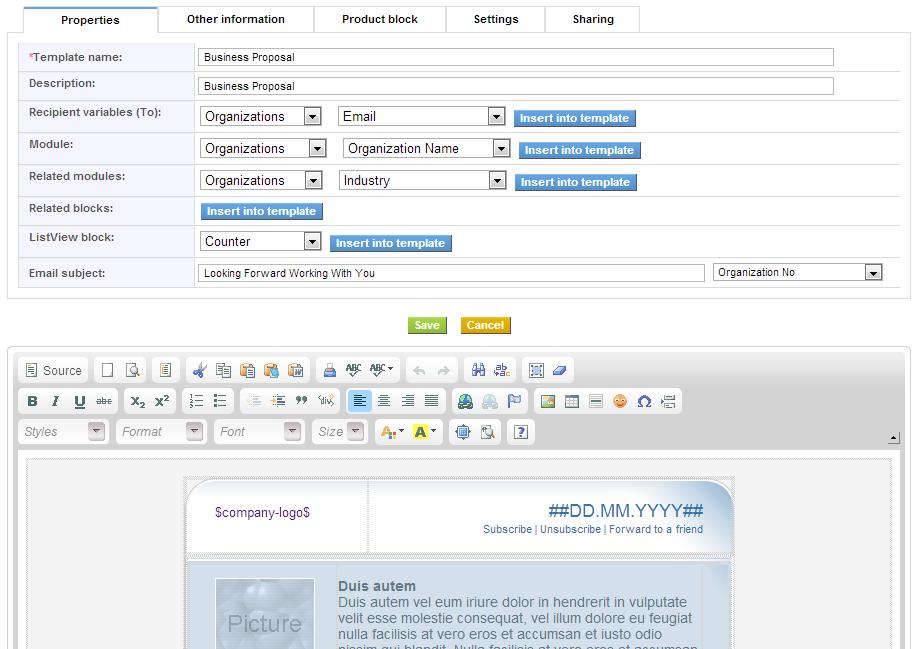 Email Designermaker Extension For Vtiger Vtiger Experts