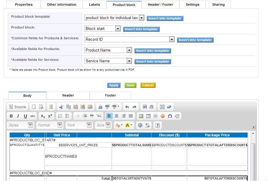 vtiger experts | products archive - page 19 of 19 - vtiger experts, Invoice examples