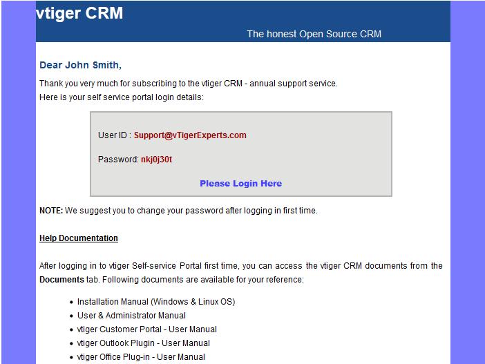 How to Setup and Configure vTiger Customer Portal Module
