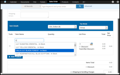 In & Out Of Stock Control for Products in vTiger CRM