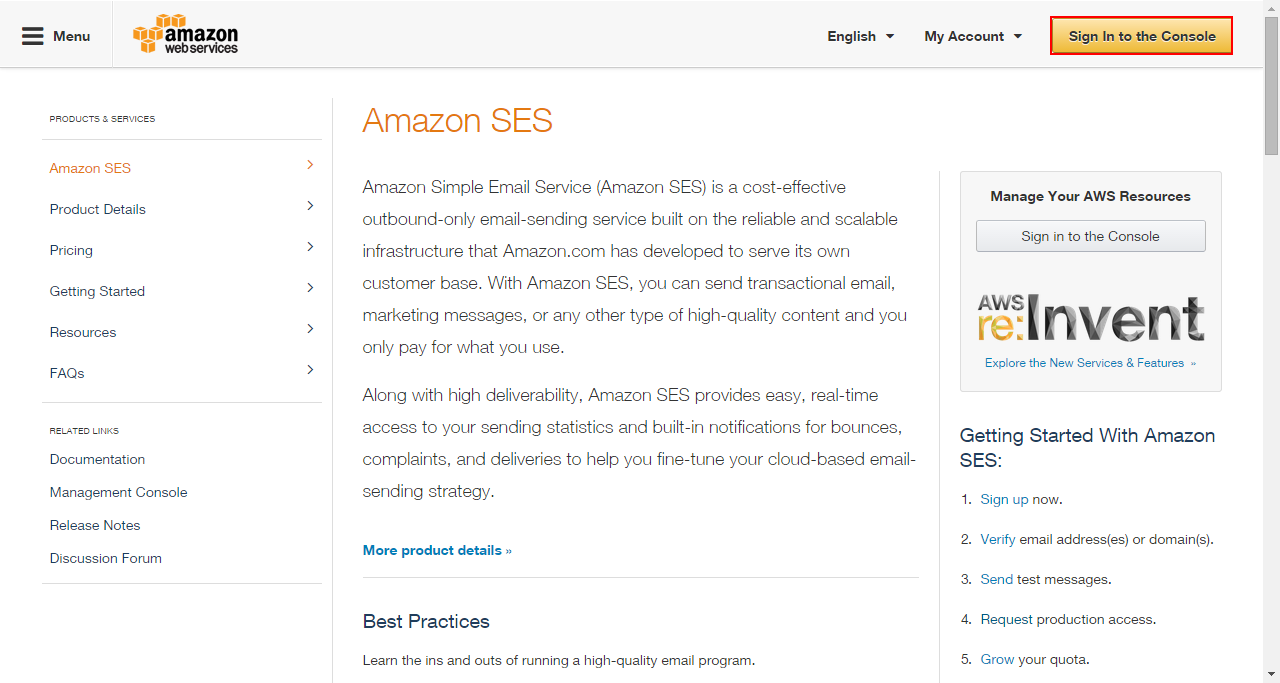 vTiger Outgoing Email & Amazon SES Integration
