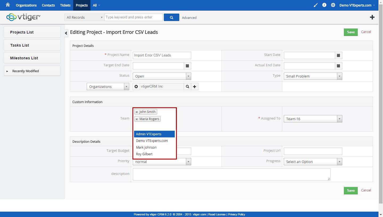 vtiger experts vtiger multi user assignment assign multiple users vtiger multiple user assigment