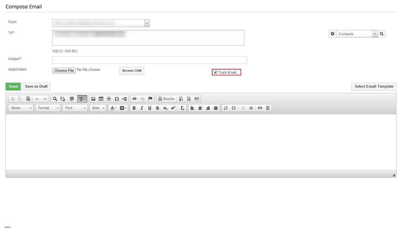 VTiger Email Tracking - manual