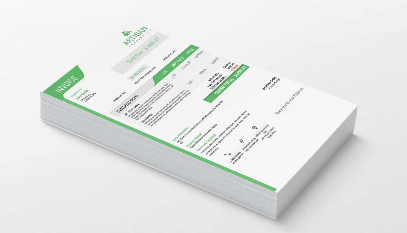 VTiger Professional PDF Template - Green - Product