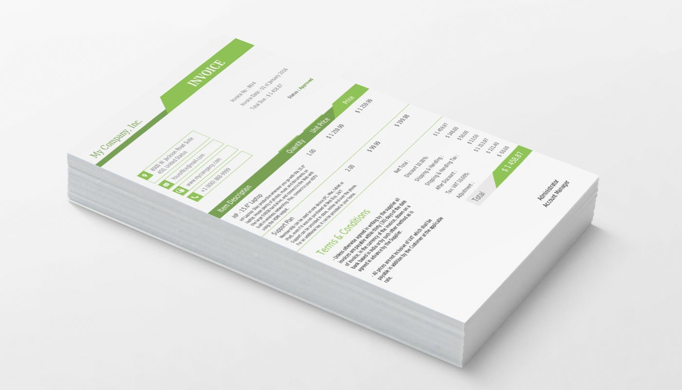 VTiger Professional Template - Light Green Product