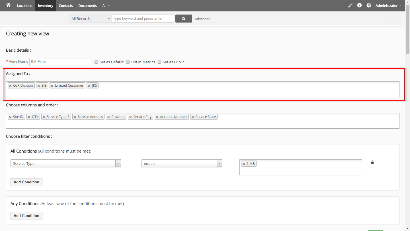 vtiger-custom-filter-permissions-assign-filter-to-group-role-user