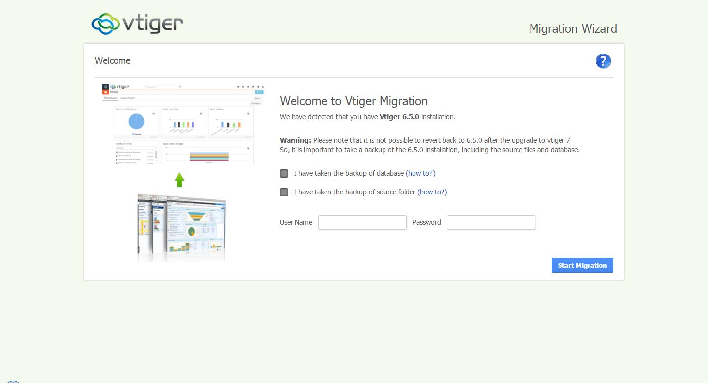 VTiger 7 Upgrade Step 1