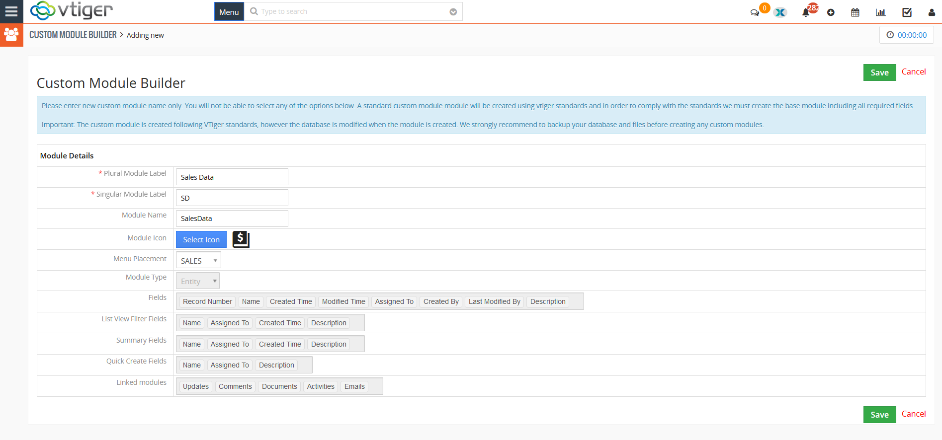 Create a custom module