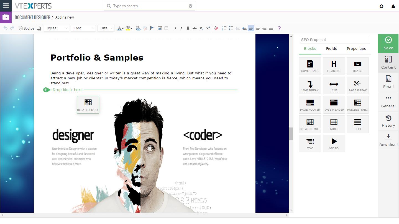 VTiger Document Designer and PDF Maker + Digital Signature