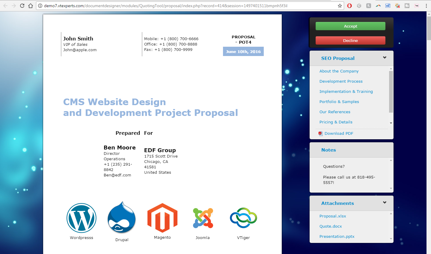 VTiger 7 Document Designer Image 3