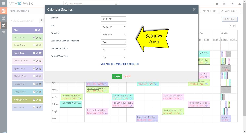 vtiger experts vtiger job work scheduler calendar