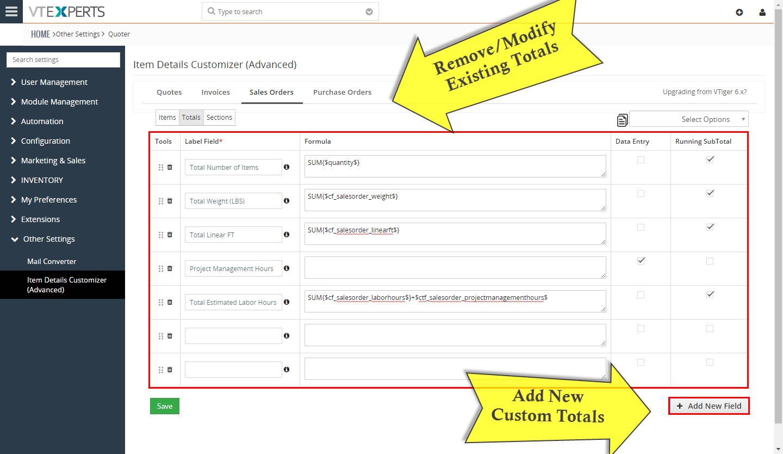 VTiger Item Details Customizer - totals4
