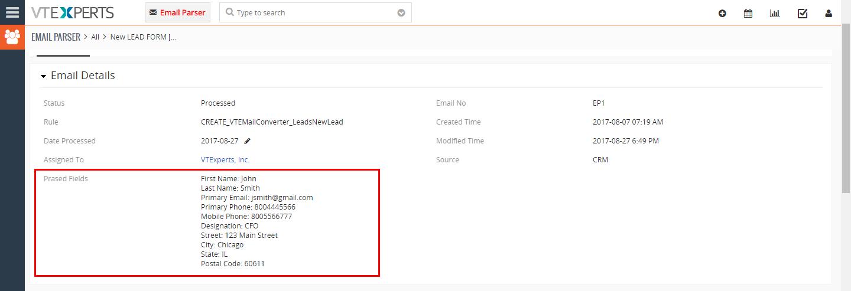 VTiger Email Parser Guide14png