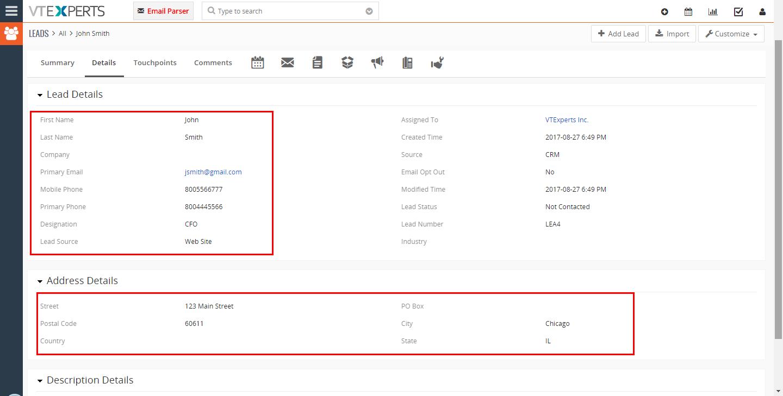 VTiger Email Parser Guide15png