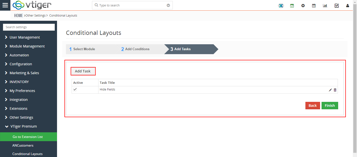 VTiger Conditional Layouts - hide fields4