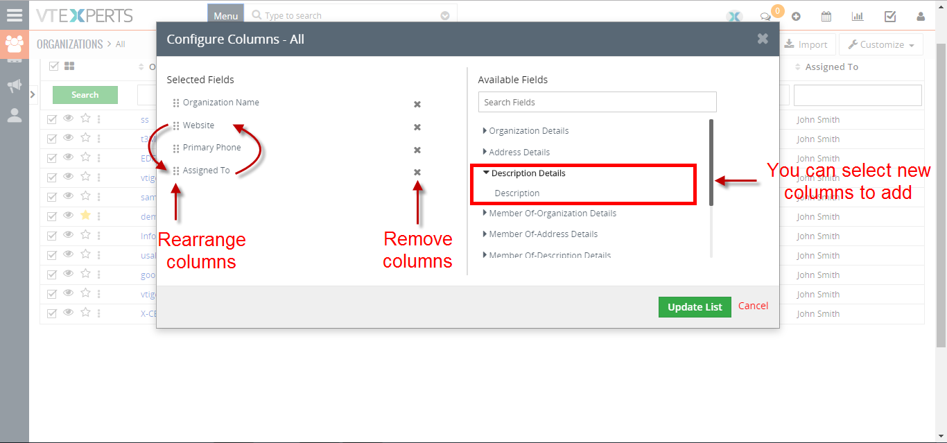how to quickly update list columns 2