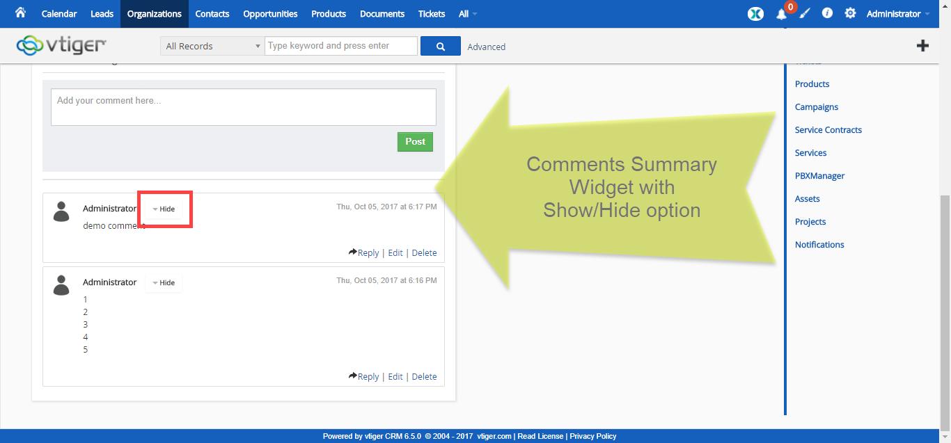 vtiger-6-extension-pack-premium-summary-widget-show-hide-comment