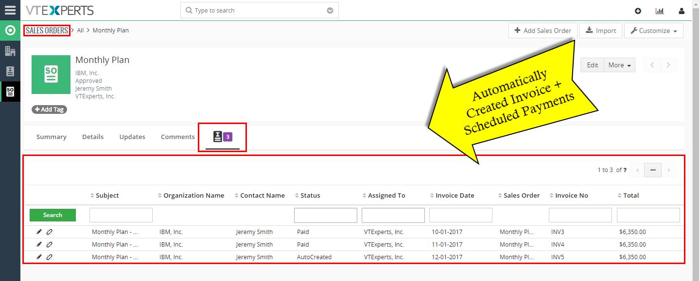 VTiger Authorize.Net Integration - scheduled invoicesug