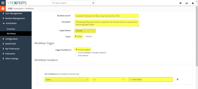 VTiger Authorize.Net Integration - workflow1