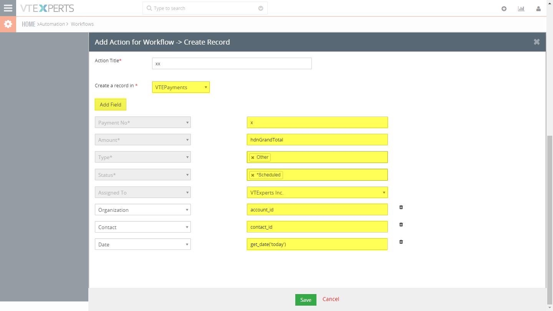 VTiger Authorize.Net Integration - workflow3