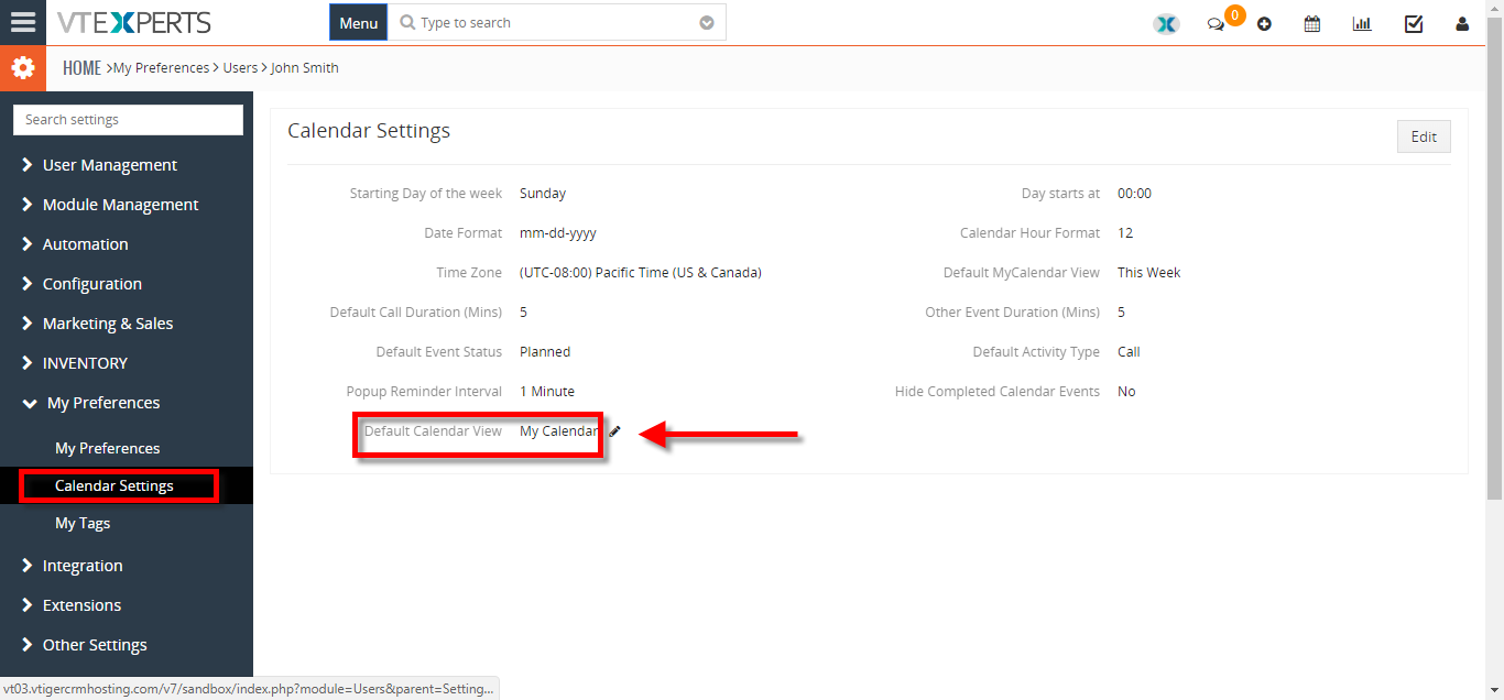 change default landing page for calendar to list view 2