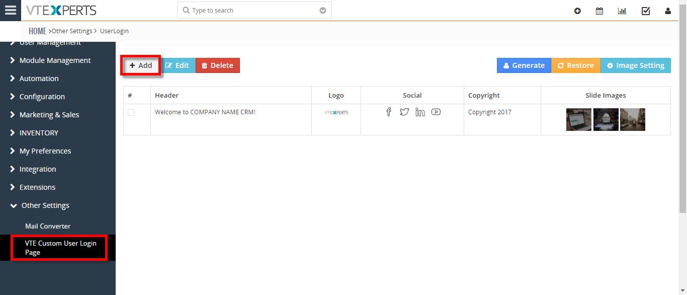 customize vtiger login page 2