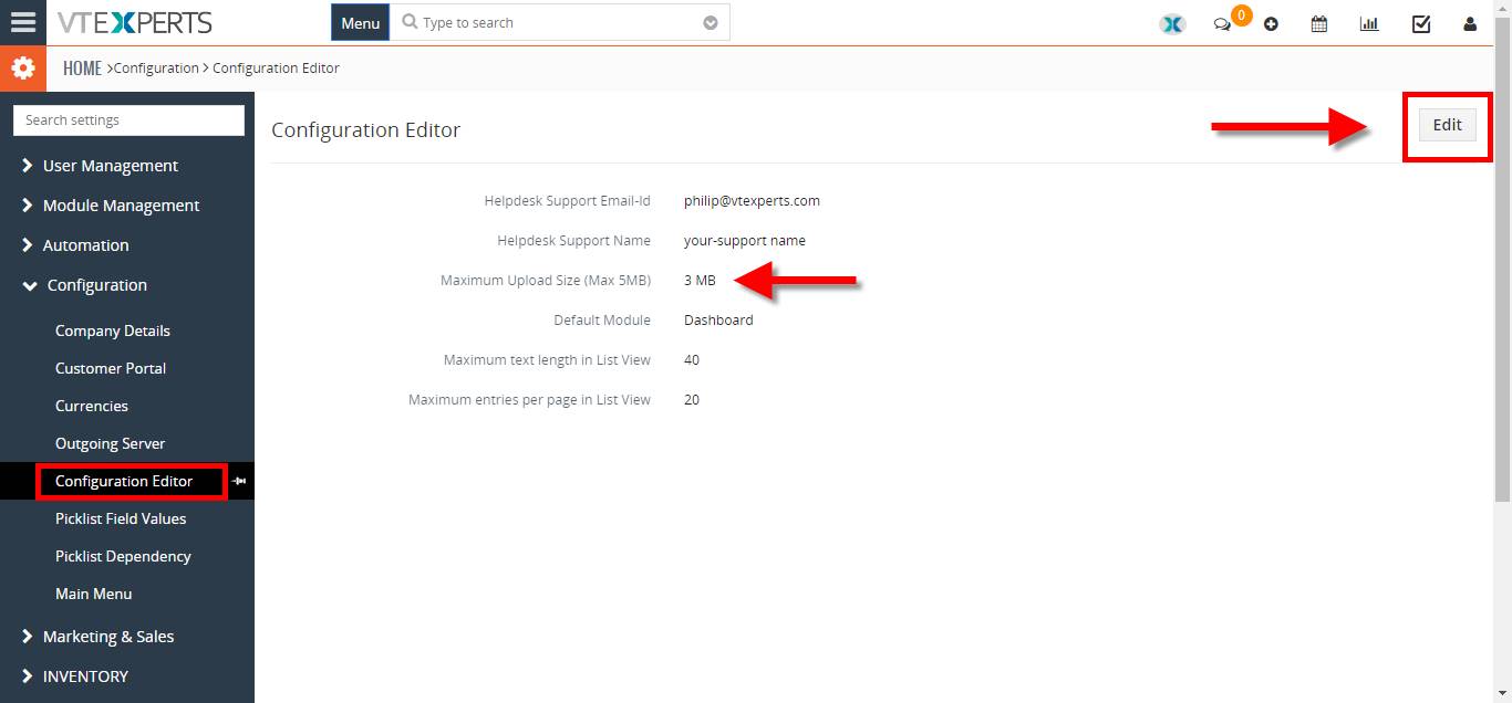 increease file upload size 2