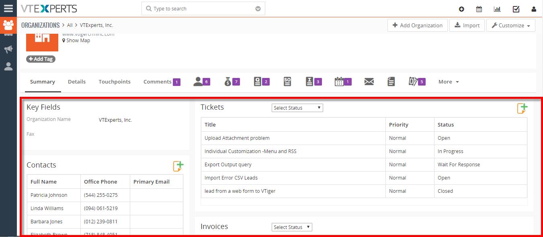 hide existing widgets (Documents, Activities, Updates) on summary view 3
