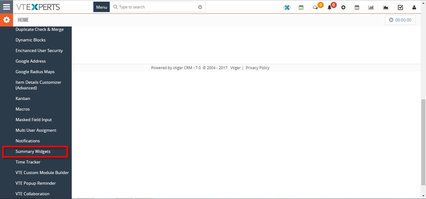 how to create new summary widget 2