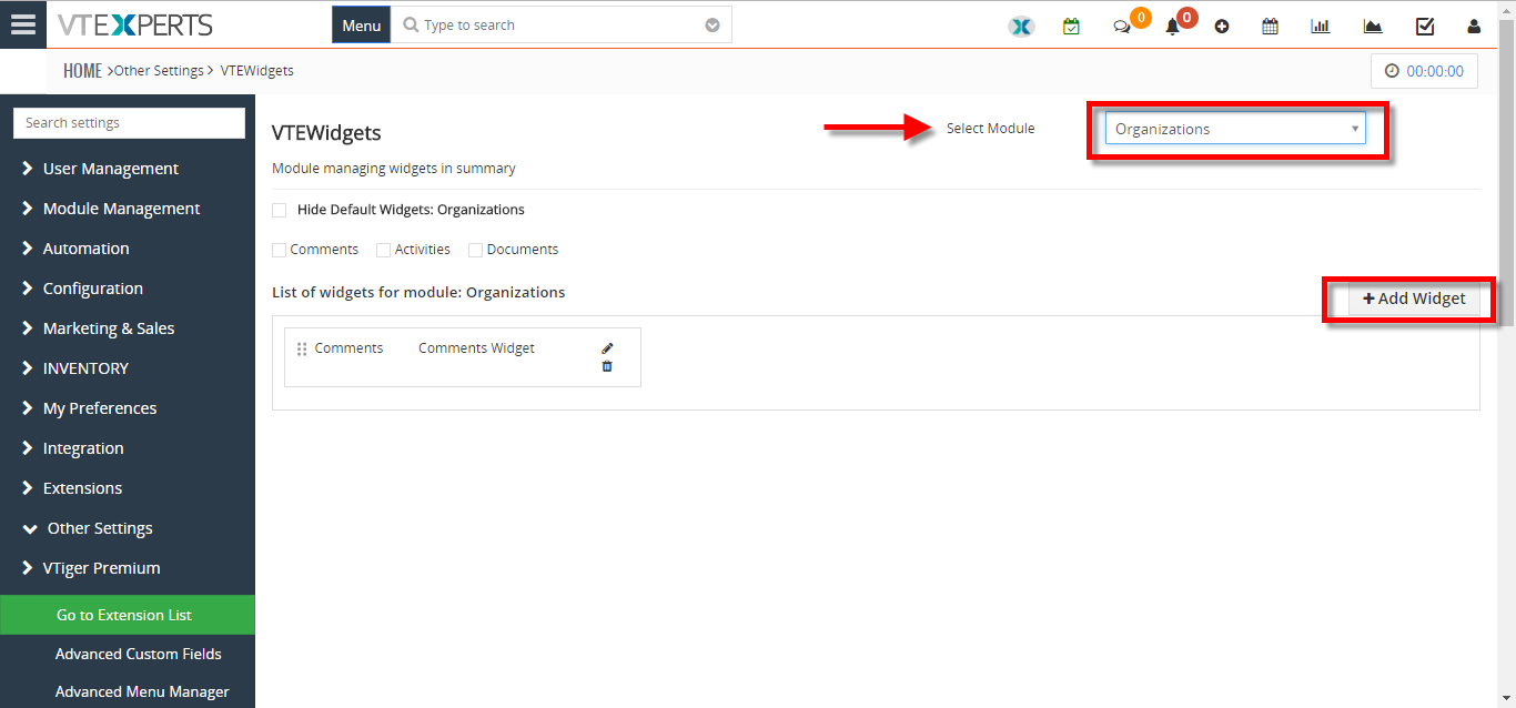 how to create new summary widget 3