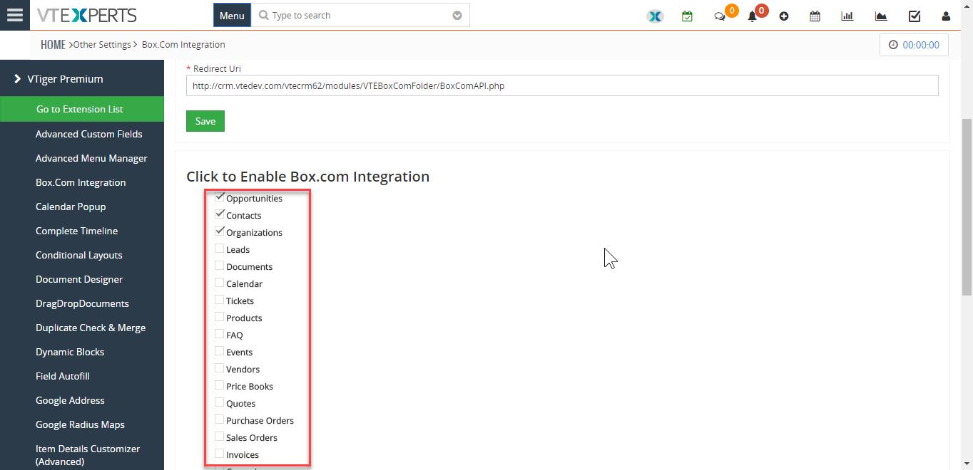 vtiger-7-premium-extension-pack-box-integration-configuration-select-modules