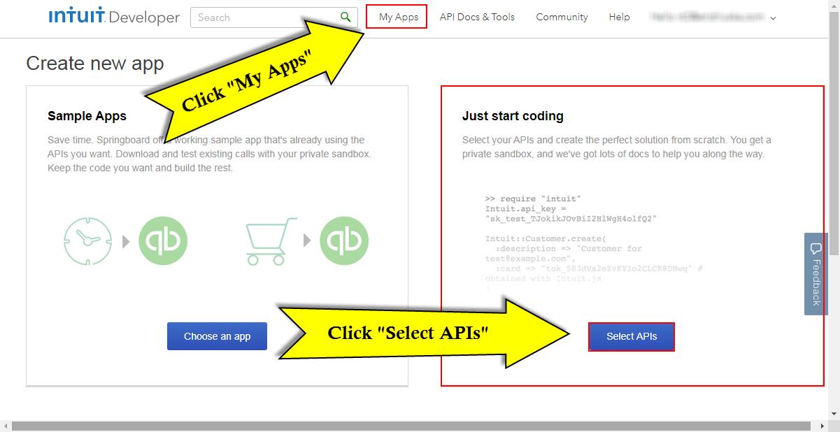 Quickbooks API Configuration - Vtiger - apis