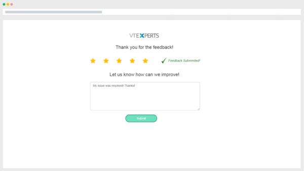 VTiger 7 feedback paget