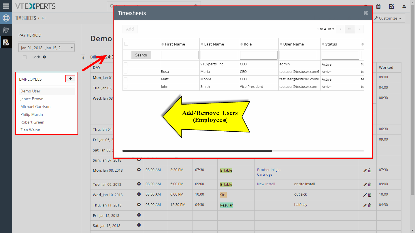 timesheets employee time log extension for vtiger