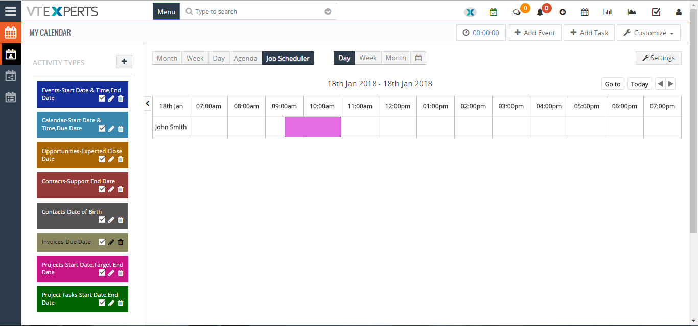 change calendar colors based on Activity Status Type in VTiger 9