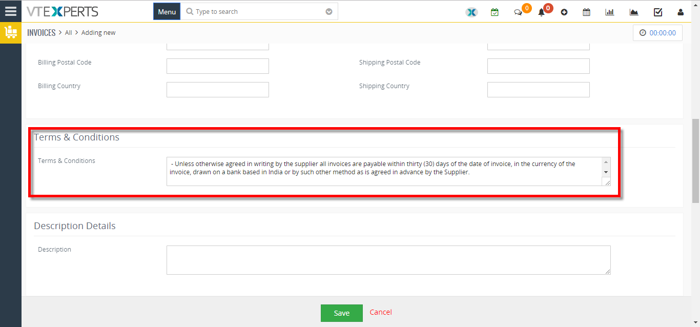change default terms and conditions for sales and purchase order 2