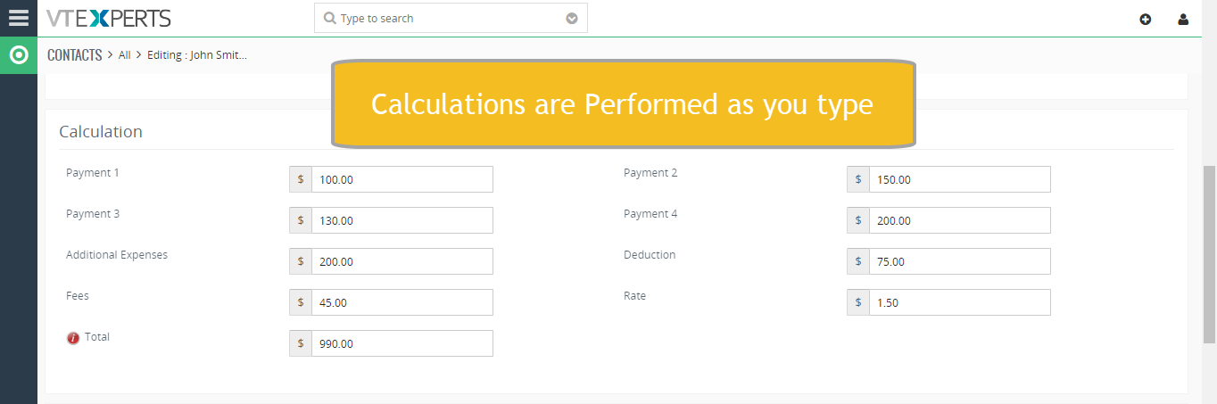 Field Formula Calculation/Concatenation for VTiger is