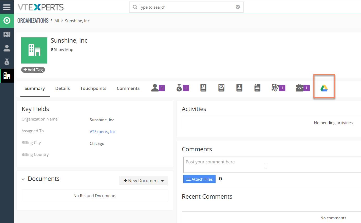 Integrate VTiger 7 With Google Drive - VTiger Experts