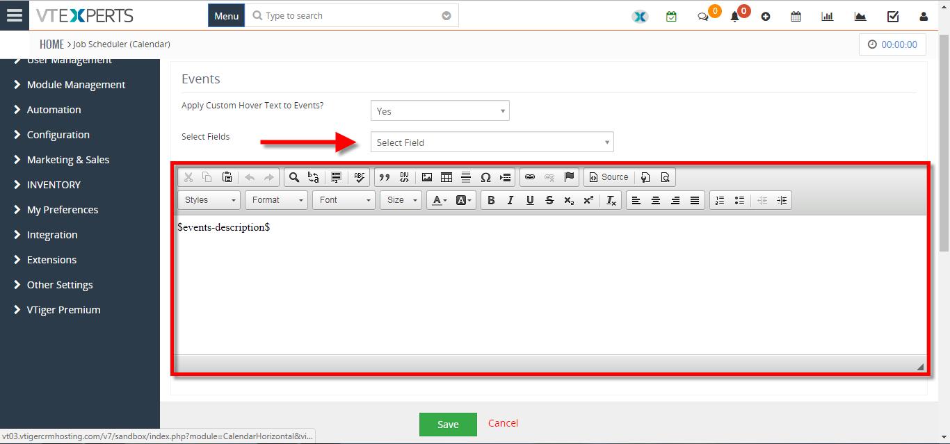 customize text on calendar tiles 5