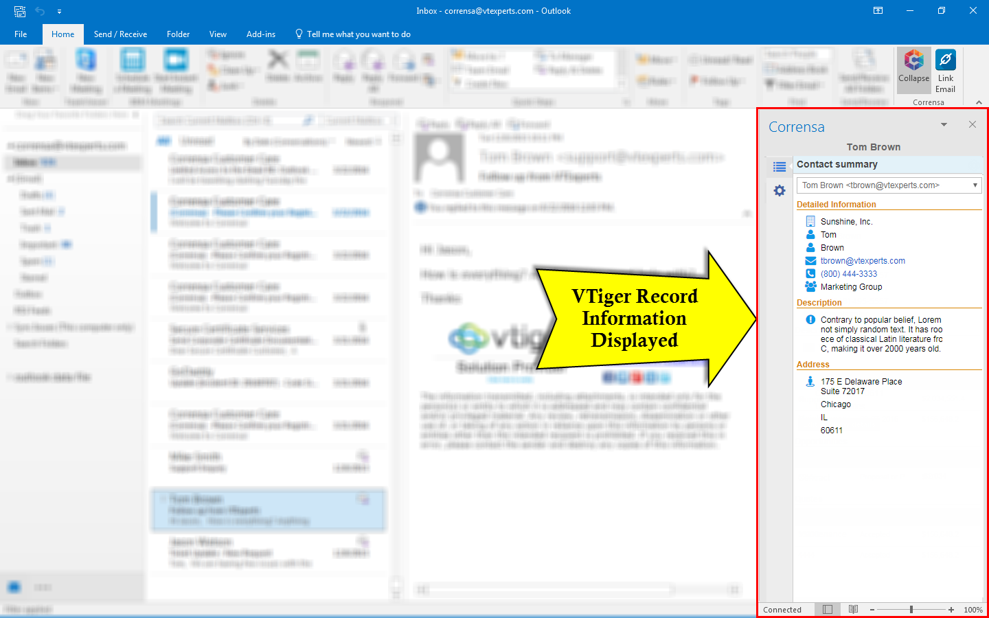Corrensa Lite - Outlook/Gmail Plugin for VTiger is Now