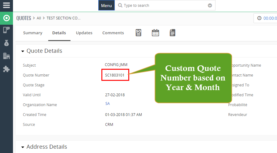 Customized Record Numbering Using Date (Month & Year) - Customization for VTiger