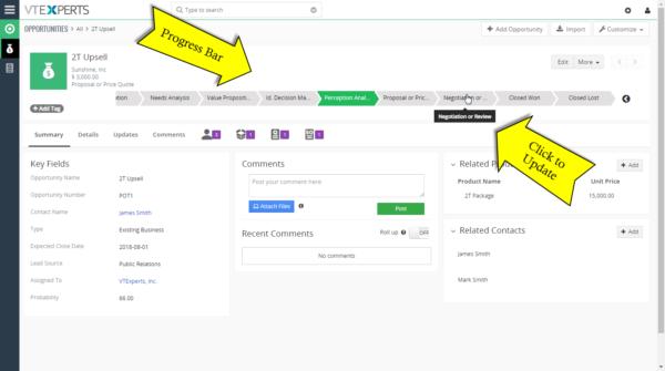 Progress Bar Extension for VTiger – Opportunity Sales Stage