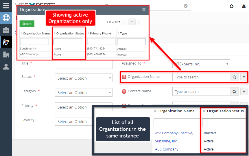 vtiger search popup filter use case