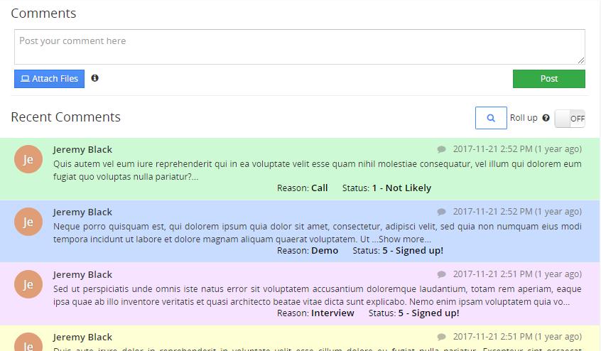 vtiger 7 advanced comments