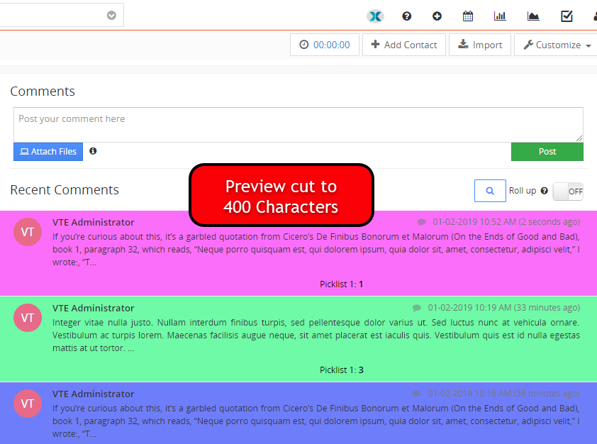 vtexperts vtiger advanced comments preview limited to characters