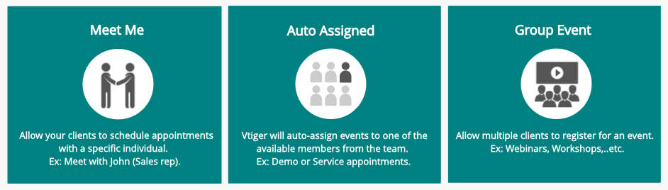 Vtiger appointments, how it works?