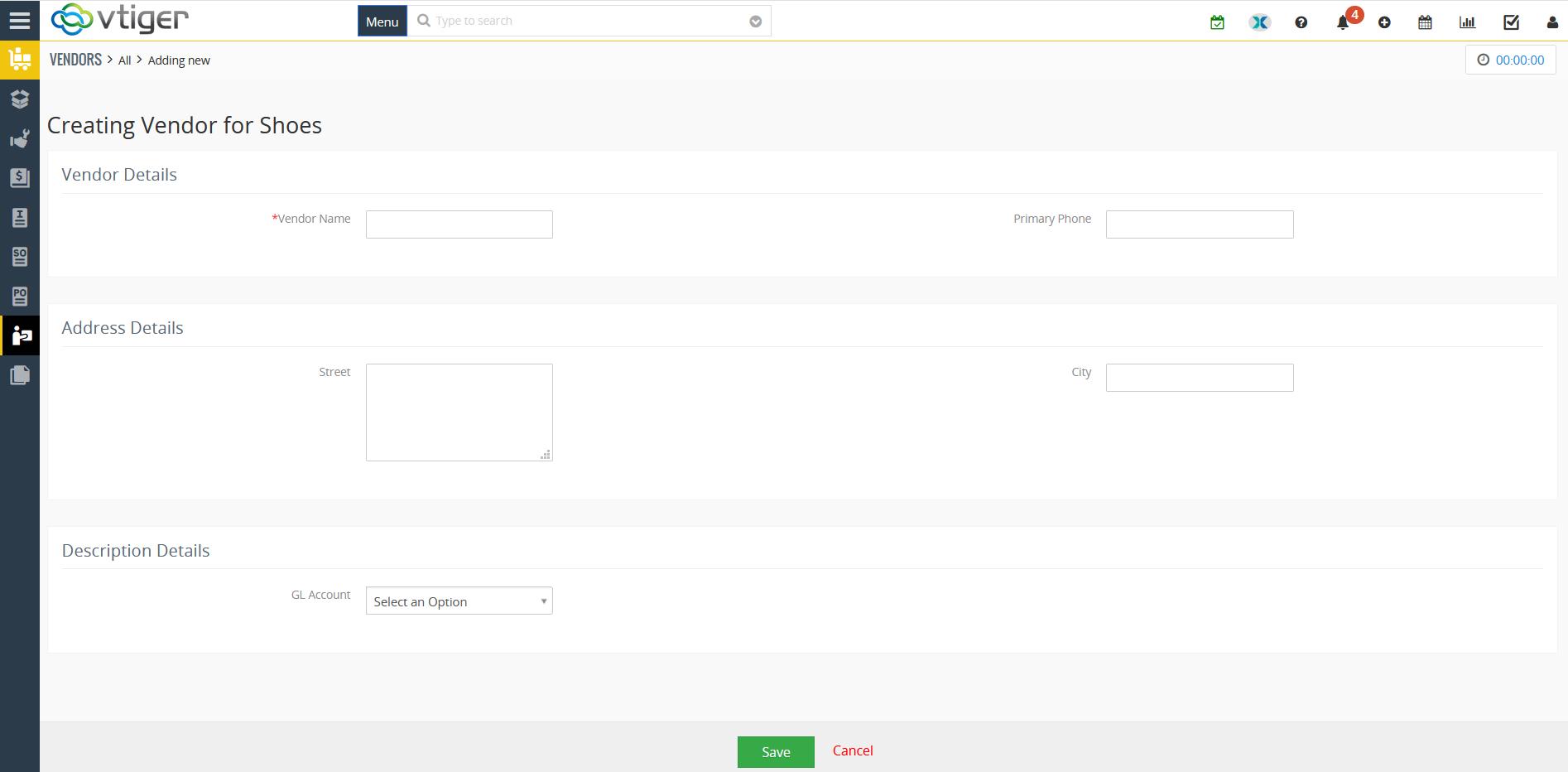 Create Custom Form in Vtiger