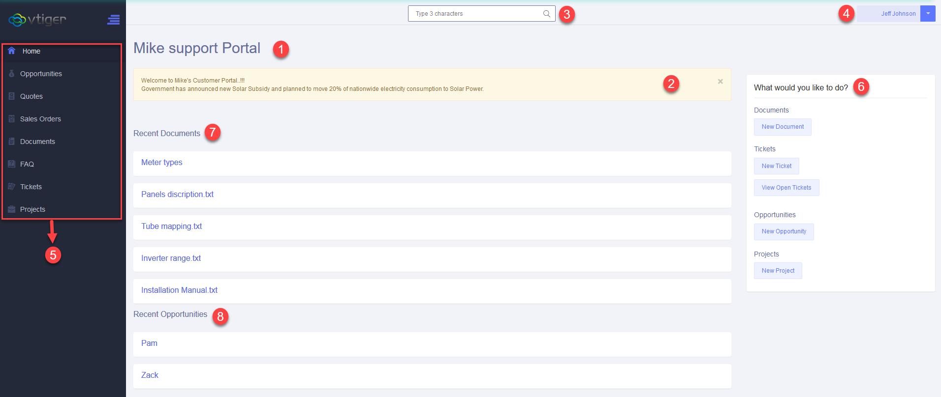 Advance Customer Portal by VTExperts