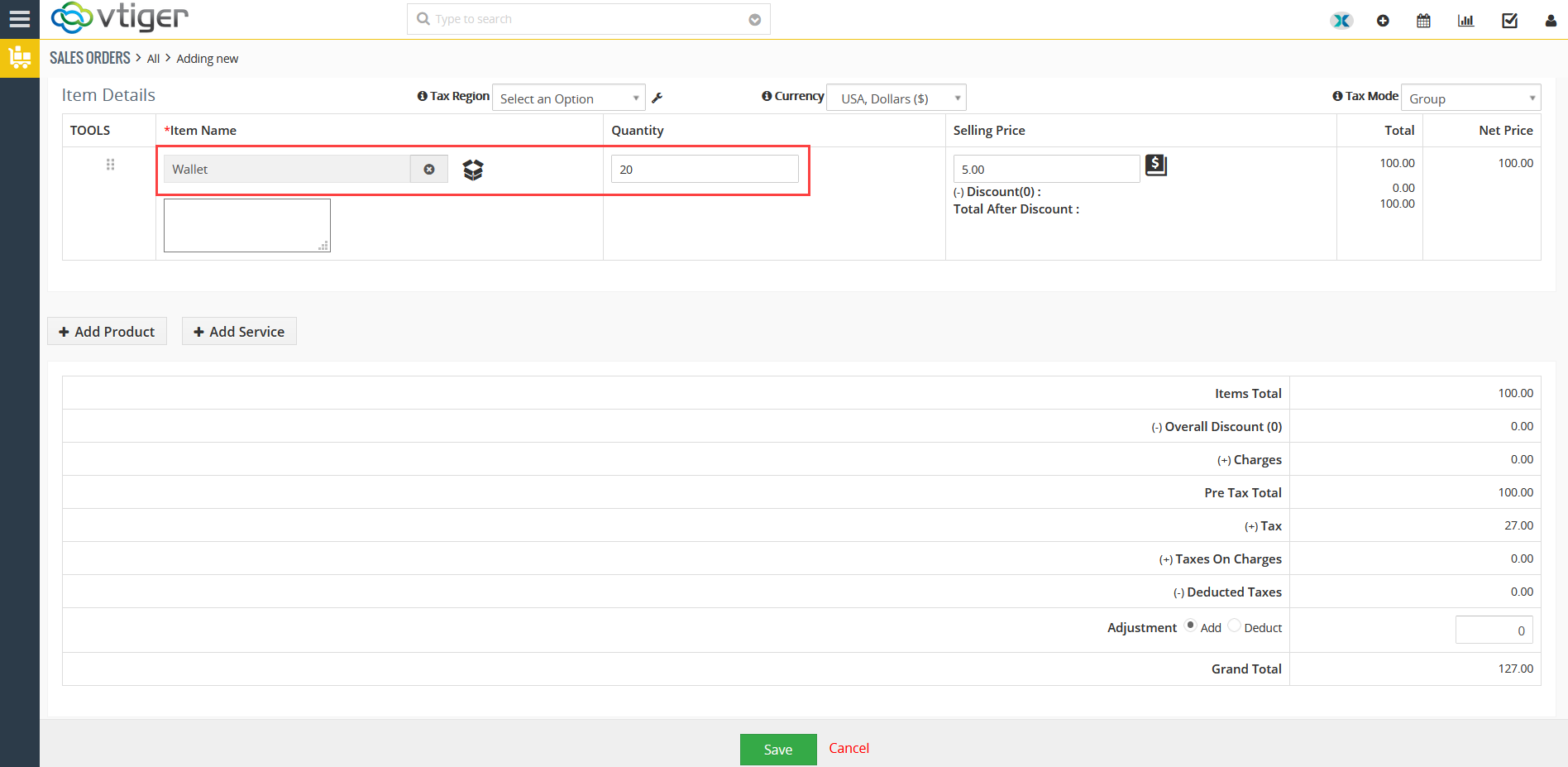 Generating Purchase order from Sales Order